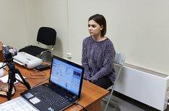 Аделина Сотникова на аккредитации