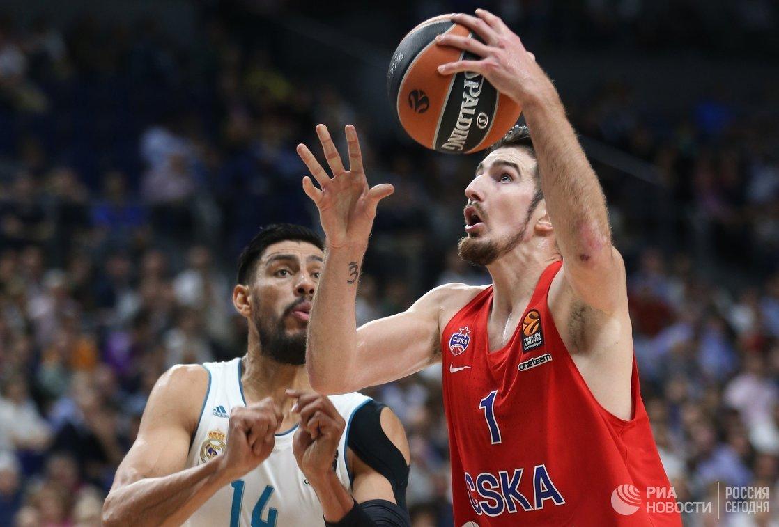 ЦСКА проиграл «Реалу» вматче баскетбольной Евролиги