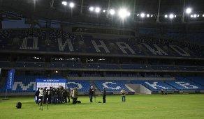 Презентация футбольного поля реконструируемого стадиона Динамо