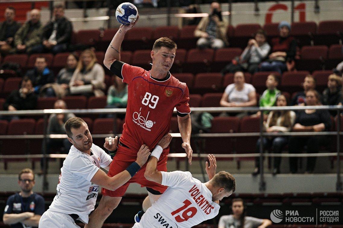 Сборная Российской Федерации погандболу одолела Словакию вквалификацииЧМ