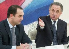 Президент АМФР Эмиль Алиев (слева) и министр спорта РФ Виталий Мутко
