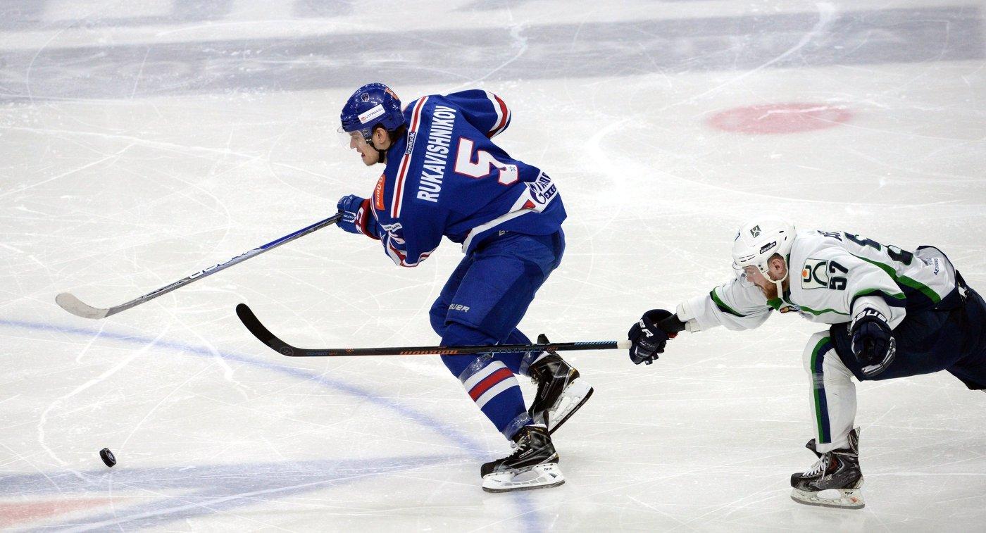 Петербургский СКА обыграл рижское «Динамо» вматче КХЛ