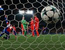 Игровой момент матча 4-го тура группового этапа Лиги чемпионов Базель - ЦСКА