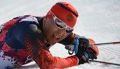 Александр Легков на финише масс-старта
