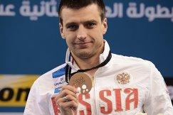 Станислав Донец (Россия) завоевавший бронзовую медаль на дистанции 50 м на спине