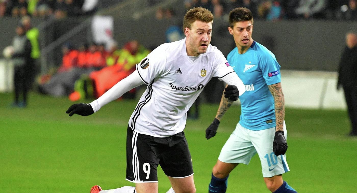 УЕФА оштрафовала «Зенит» на27 тыс. евро порезультатам матча с«Русенборгом»