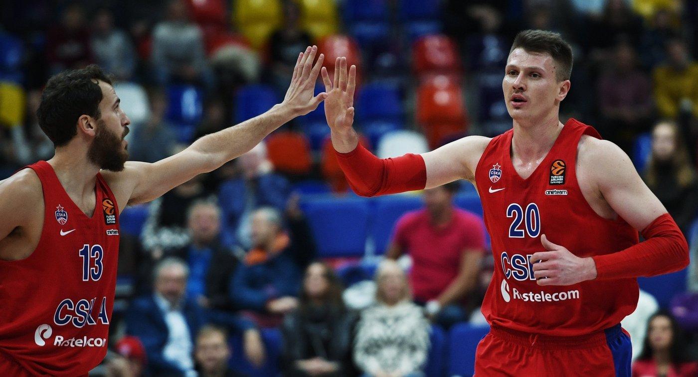 Баскетболисты Хиггинс иШенгелия признаны самыми ценными игроками 14-го тура Евролиги