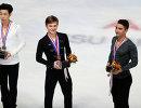 Китаец Цзинь Боян, россиянин Михаил Коляда и американец Макс Аарон (слева направо)