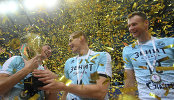 Игроки ВК Зенит Игорь Юдин, Никита Алексеев и Алексей Самойленко (слева направо)