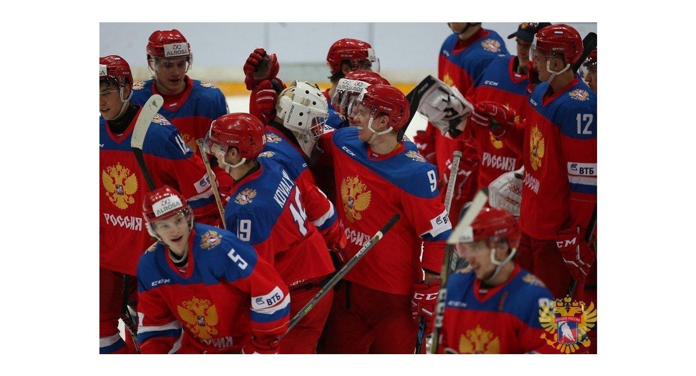Молодежная сборная Российской Федерации  одолела  команду Финляндии вматче Турнира четырех  наций