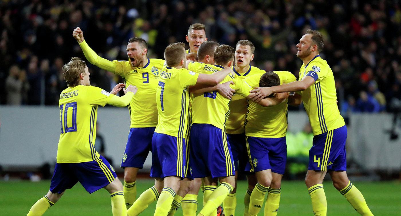 Сборная Швеции пофутболу вовремя ЧМ-2018 будет базироваться вГеленджике