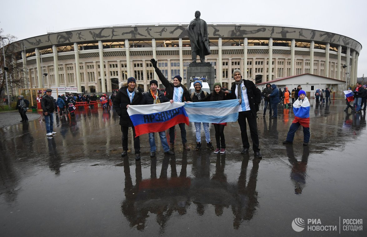 Встреча Аргентины сРоссией завершилась  срезультатом  1:0