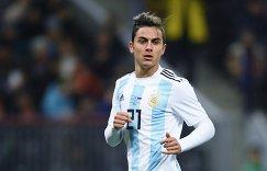 Нападающий сборной Аргентины Пауло Дибала