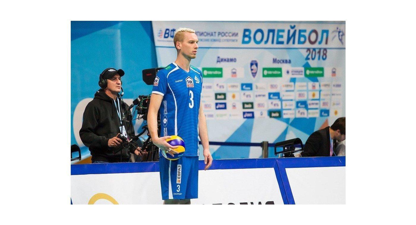 Игрок ВК Динамо (Москва) Кевин Ле Ру