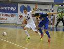 Игровой момент матча чемпионата России по мини-футболу Ухта - Синара