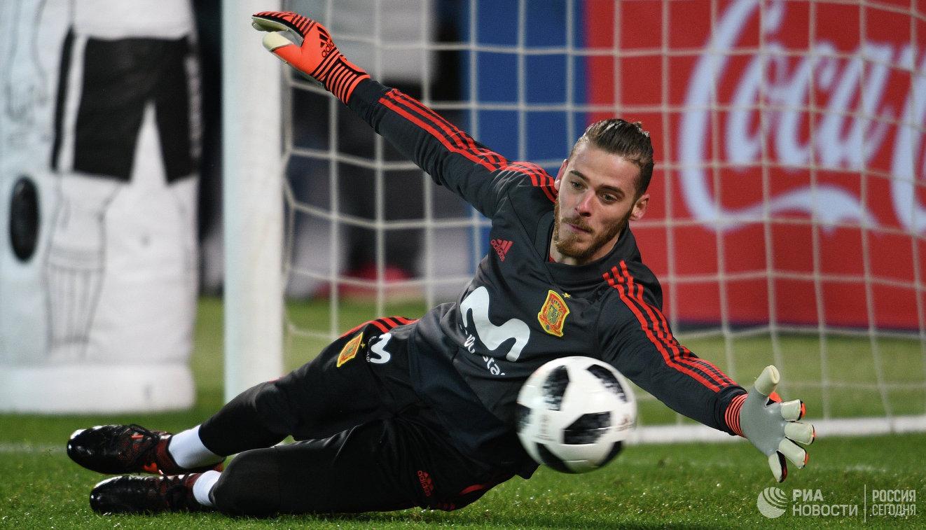 Вратарь сборной Испании по футболу Давид де Хеа