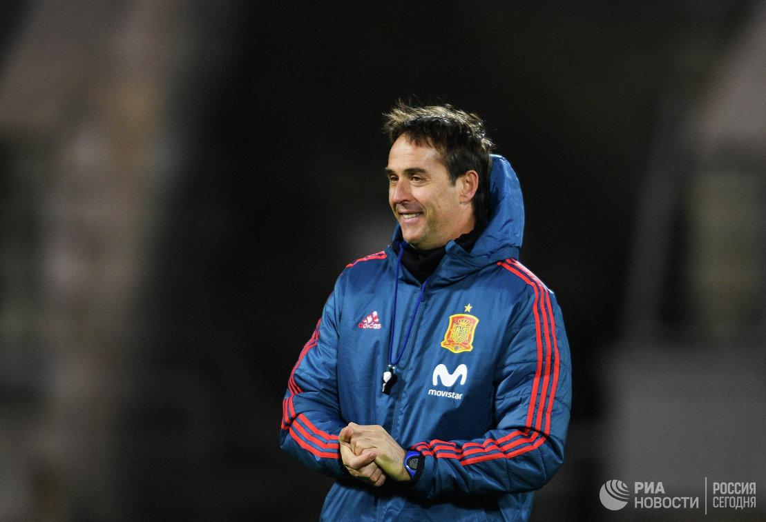 Главный тренер сборной Испании по футболу Хулен Лопетеги