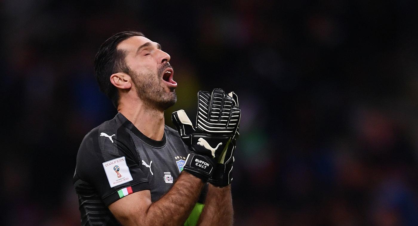Буффон разрыдался впрямом эфире из-за невыхода сборной Италии начемпионат мира