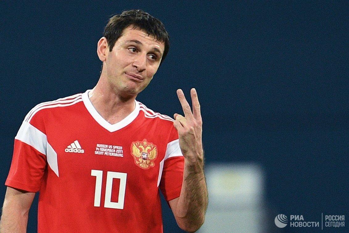 Полузащитник сборной России Алан Дзагоев