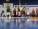 Игровой момент матча отборочного турнира чемпионата Европы по баскетболу 2019 между женскими сборными России и Литвы