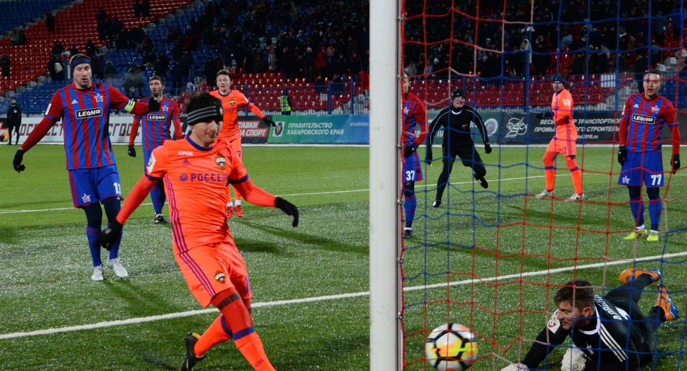 ЦСКА обыграл хабаровский СКА вматче футбольной премьер-лиги