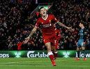 Полузащитник Ливерпуля Филиппе Коутиньо радуется забитому мячу
