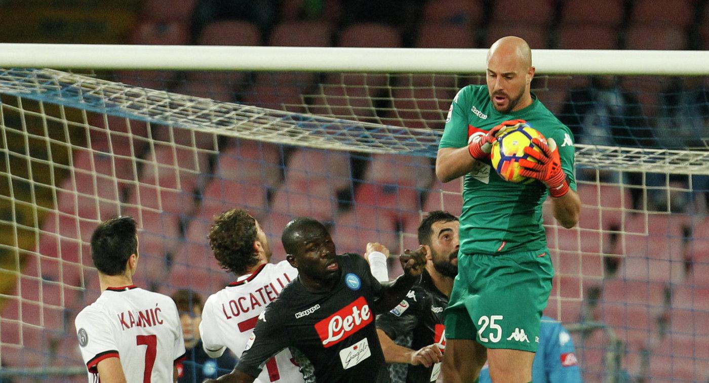 Футболисты «Наполи» насвоем поле обыграли «Милан» в13-м туре чемпионата Италии