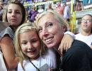 Олимпийская чемпионка Ирина Кириллова с дочкой Никой