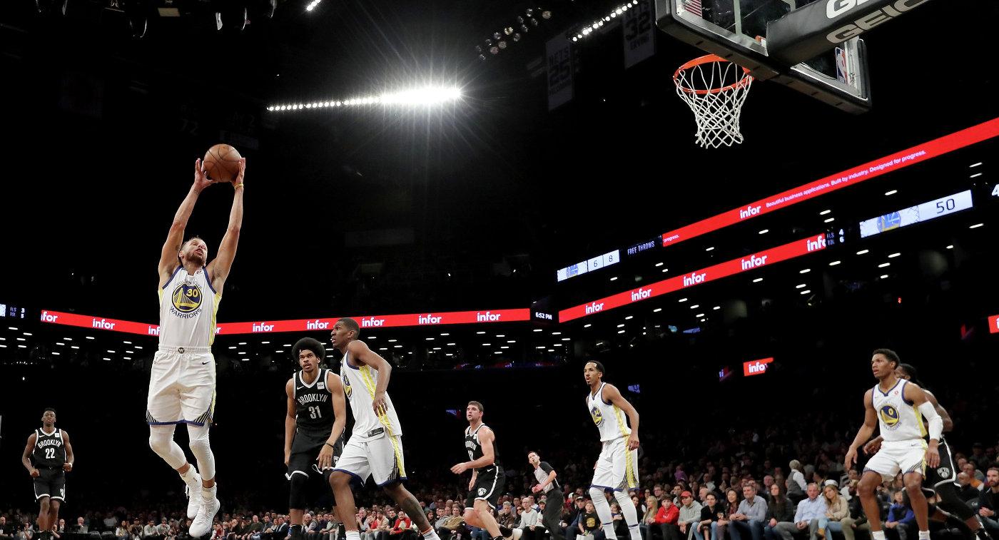 39 очков Карри помогли «Голден Стэйт» обыграть «Бруклин»