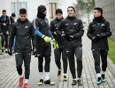 Игроки ФК Зенит Эмилиано Ригони, Юрий Лодыгин, Леандро Паредес и Себастьян Дриусси (слева направо)