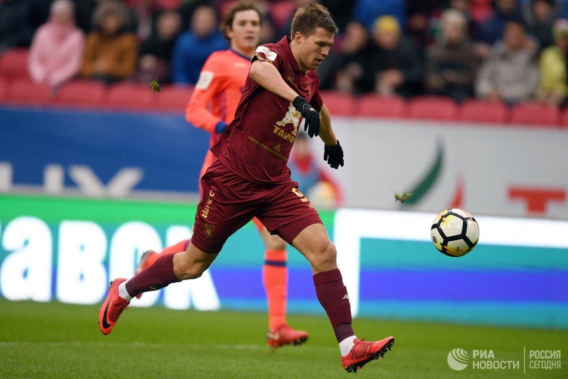 Нападающий ФК Рубин Максим Канунников