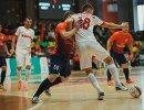 Игровой момент матча чемпионата России по мини-футболу Политех - КПРФ