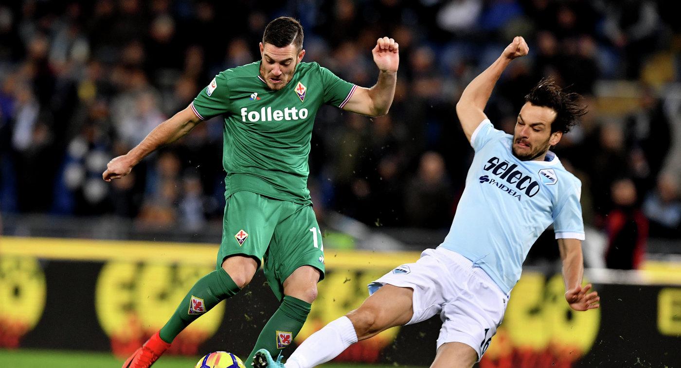 Футболисты «Лацио» сыграли вничью с«Фиорентиной» вматче чемпионата Италии