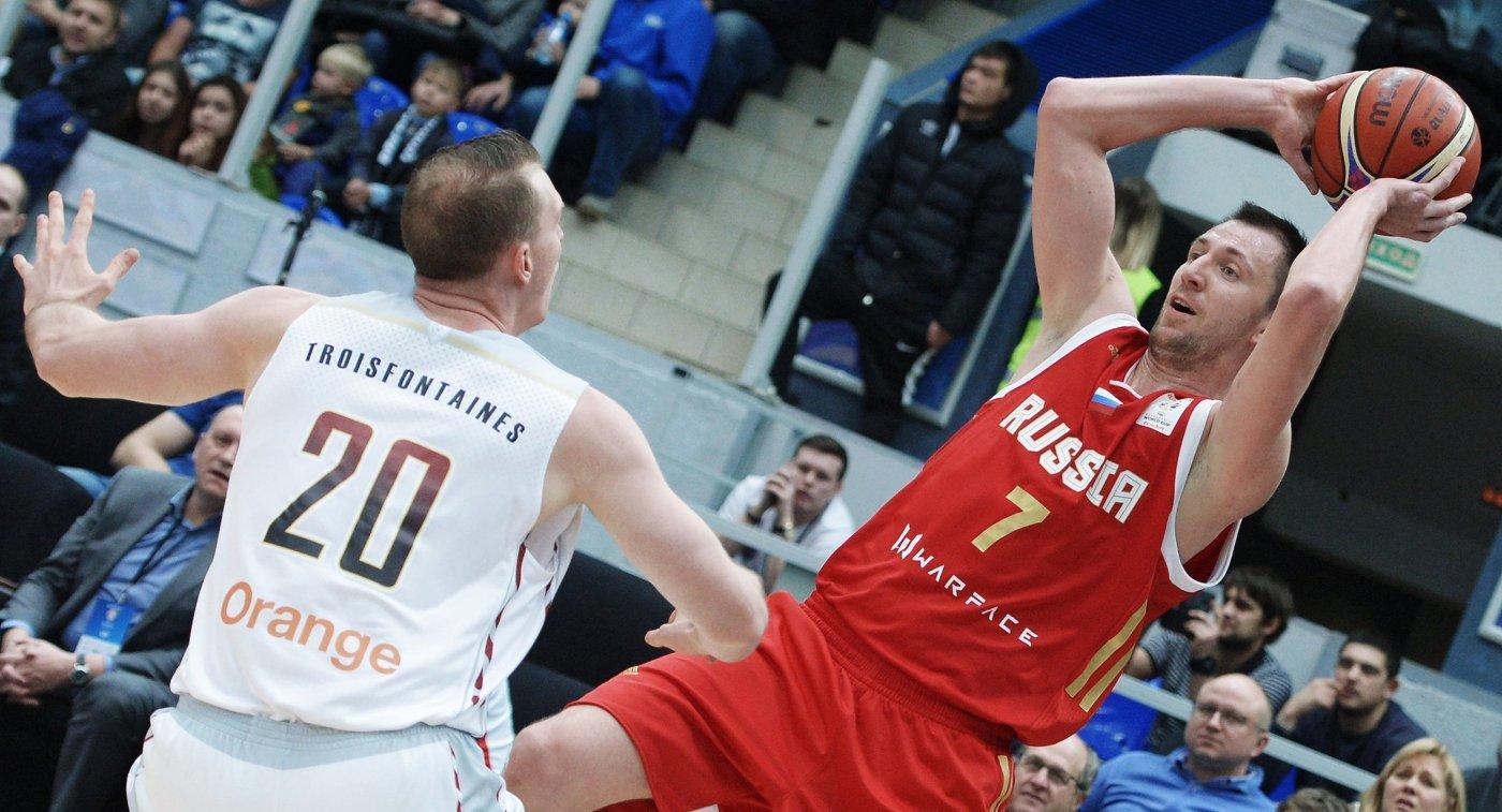СборнаяРФ побаскетболу одолела команду Бельгии вНижнем Новгороде