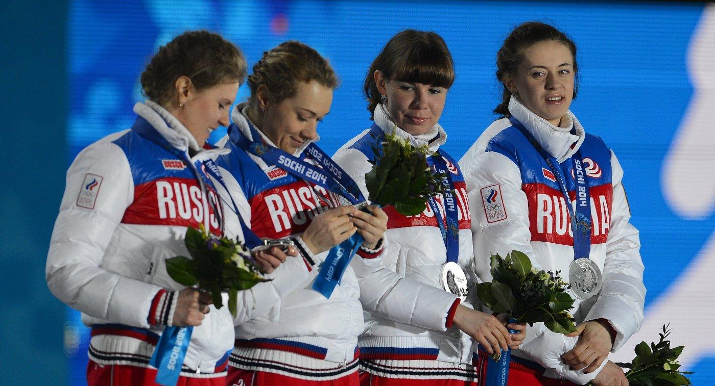 Яна Романова, Ольга Зайцева, Екатерина Шумилова, Ольга Вилухина (слева направо)