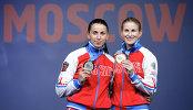 Аида Шанаева (Россия) – серебряная медаль и Инна Дериглазова (Россия) – золотая медаль (слева направо)
