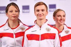 Виктория Демченко, Александр Мальцев и Светлана Колесниченко (слева направо)