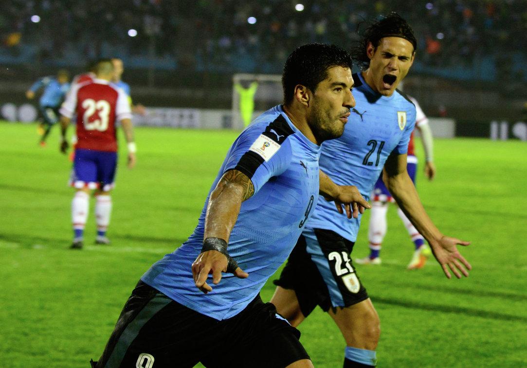 Кавани и Суарес вошли в расширенный состав сборной Уругвая по футболу на ЧМ
