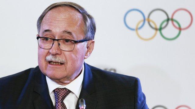 Бывший президент Швейцарии, глава комиссии Международного олимпийского комитета Самуэль Шмид
