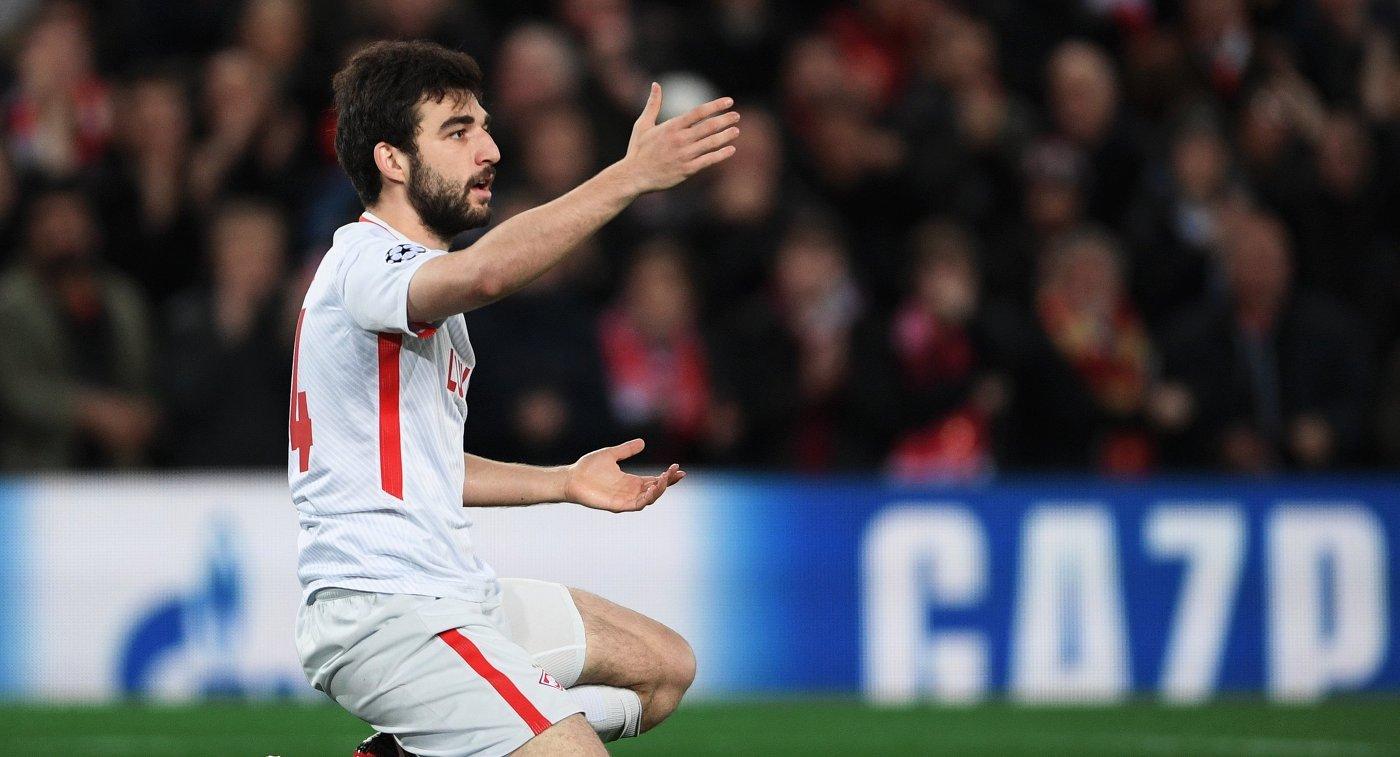 Защитник «Спартака» Джикия травмировал связки колена втоварищеском матче