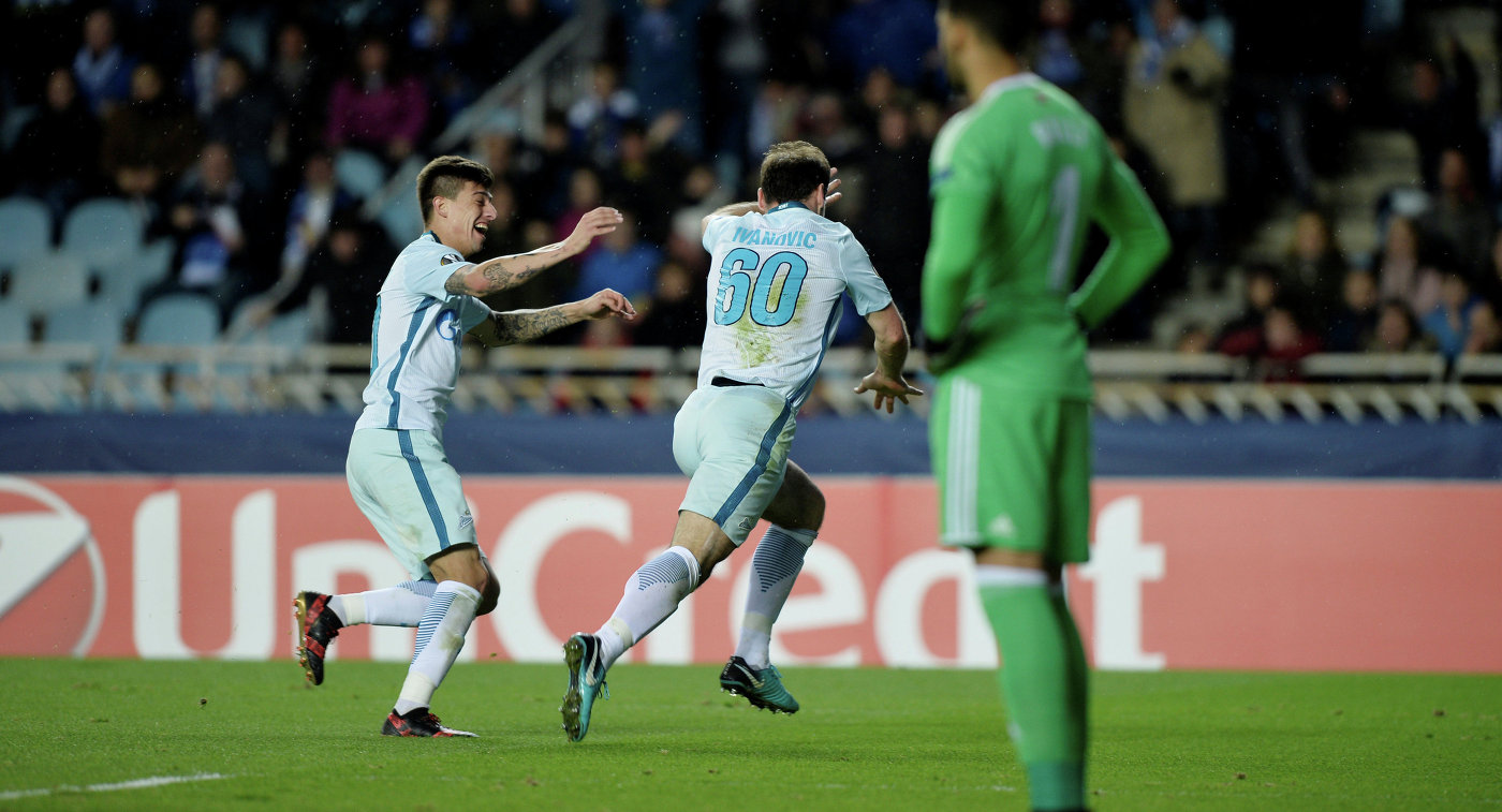 Роберто Манчини иКристиан Нобоа— перед матчем с«Реал Сосьедадом»