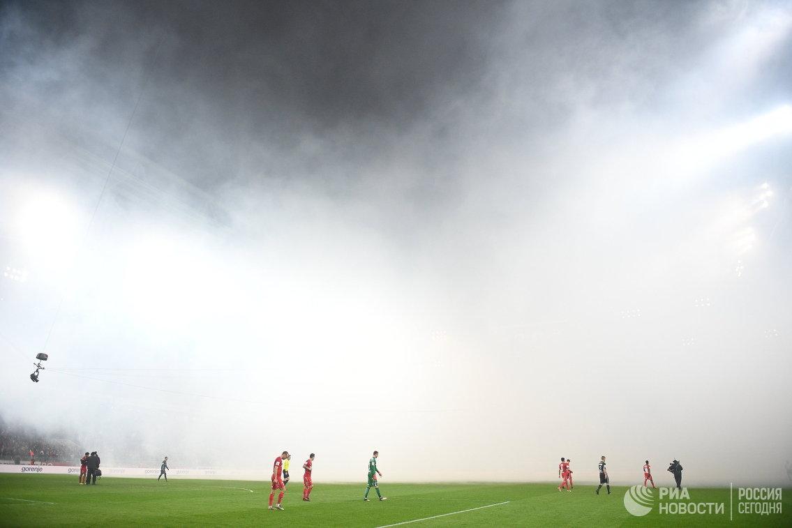 Игровой момент матча 20-го тура РФПЛ Спартак - ЦСКА