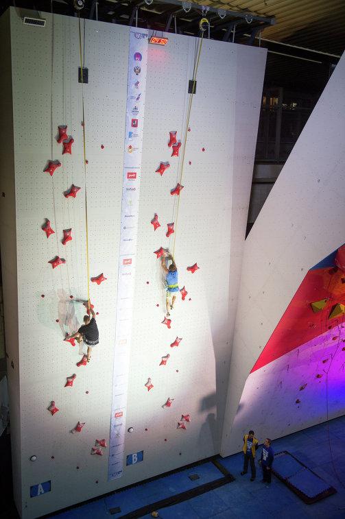 Участники Кубка России по скалолазанию