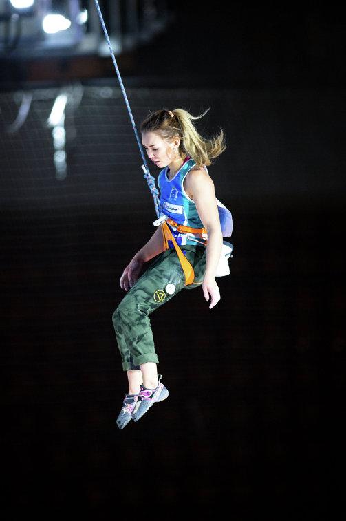Участница Кубка России по скалолазанию