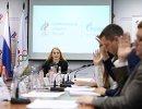 Председатель Комиссии спортсменов Олимпийского комитета России (ОКР) Софья Великая на заседании Комиссии спортсменов ОКР