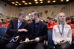 Игорь Казиков, Фёдор Климов и Евгения Тарасова (слева направо)