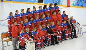 Члены женской сборной России по хоккею
