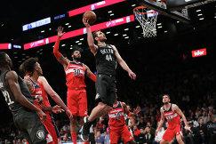 Игровой момент матча НБА Бруклин Нетс - Вашингтон Уизардз