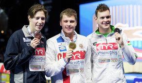 Александр Красных (в центре), Петер Бернек (справа) и Хенрик Кристиансен