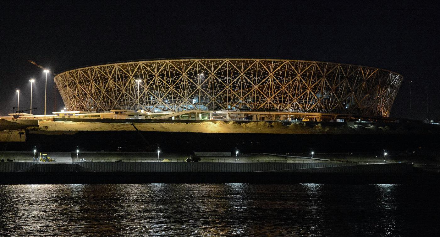 Строящийся стадион Волгоград Арена в Волгограде
